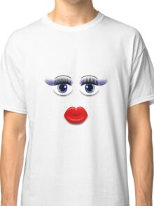 Blue Eyes With Lips Classic T-Shirt