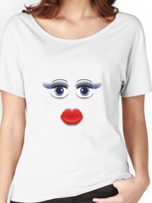 Blue Eyes With Lips Women's Relaxed Fit T-Shirt