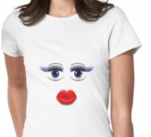 Blue Eyes With Lips Womens Fitted T-Shirt