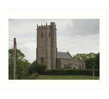St Mary the Virgin Church, West Buckland Somerset. Art Print
