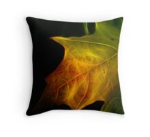 Maple Leaf in Transistion Throw Pillow