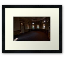Happy Halloween - Waiting For You - Windows of The Past - Tarban Creek Lunatic Asylum -The HDR Experience Framed Print