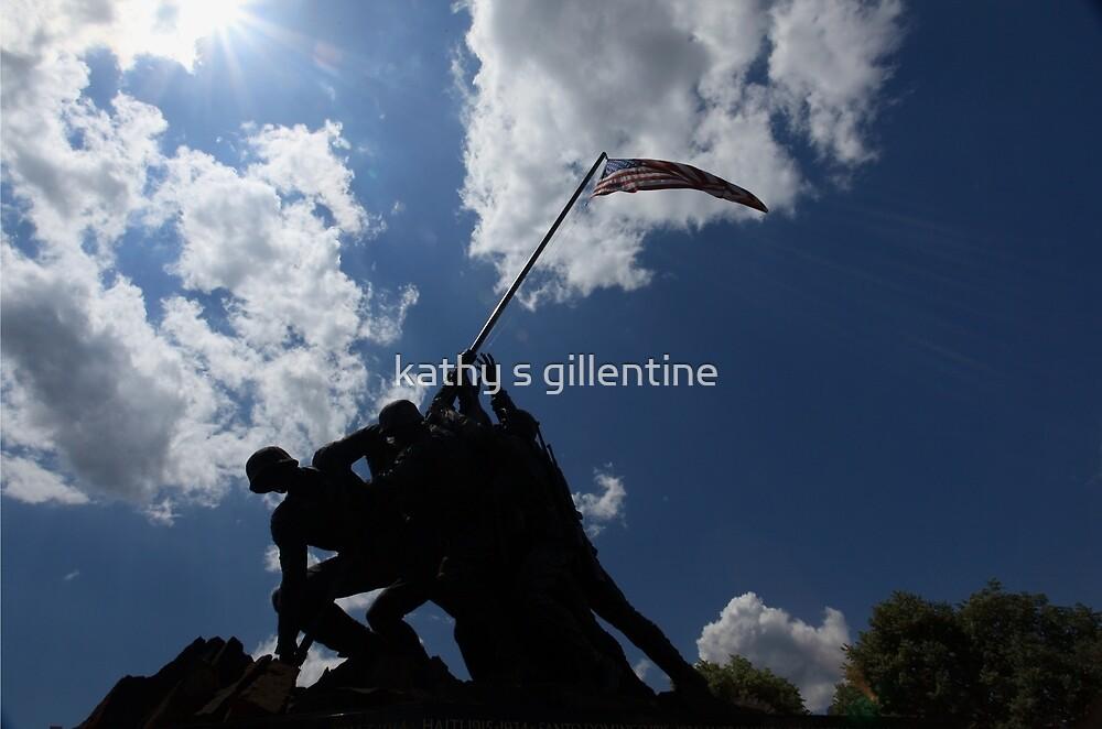 Iwo Jima Memorial by kathy s gillentine