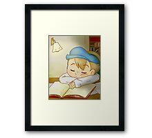 Professor Layton- Sleeping Luke Framed Print