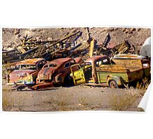 Death Valley  Car Cemetery Poster