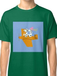 Airplane and Dalmatians  Blue Classic T-Shirt