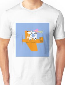 Airplane and Dalmatians  Blue Unisex T-Shirt