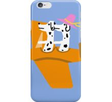 Airplane and Dalmatians  Blue iPhone Case/Skin