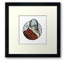 Eye of the viking Framed Print