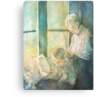 Grandma Braids Canvas Print