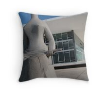 justice brazilian palace and statue Throw Pillow