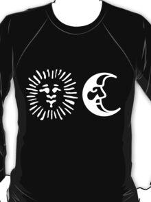 Sun & Moon | White on Black T-Shirt