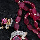 RUBY NECKLACE & DIAMOND PENDANT by RakeshSyal