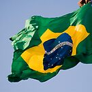 brazil official flag in the wind by momarch