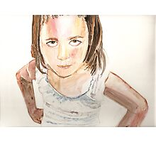 Tween-y show, watercolor on yupo paper Photographic Print