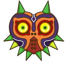 Majora's Mask Sticker by TheWhaleBaby