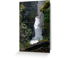 Athabaska Gorge Greeting Card