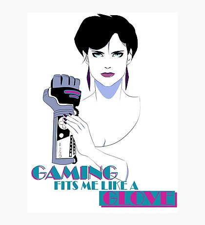 Retro PowerGlove Gamer Photographic Print