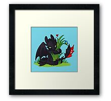 Dragons Love Grass Framed Print