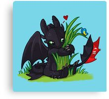 Dragons Love Grass Canvas Print
