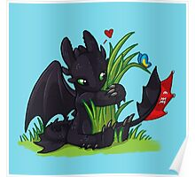 Dragons Love Grass Poster
