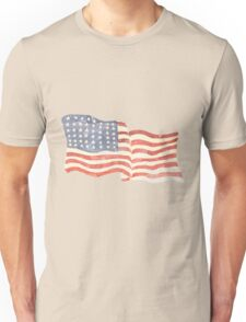 American flag patriotic faded distressed vintage Unisex T-Shirt