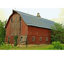 ....another barn in Dunn County, Wisconsin... Photographic Print
