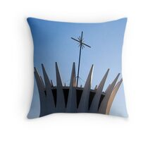 metropolitan catedral of brasilia Throw Pillow