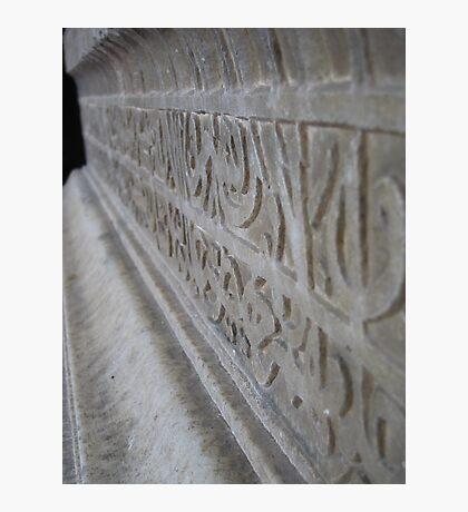 Indian Stonework Photographic Print