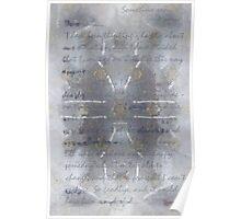 Handmade Paper, Never Sent Poster