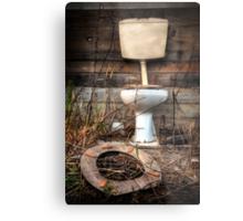 Atmospheric Toilet Cabin Metal Print
