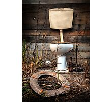 Atmospheric Toilet Cabin Photographic Print