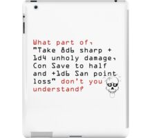 Evil GM: Don't You Understand? iPad Case/Skin