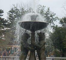 Detroit Zoo Fountain by Felicia722