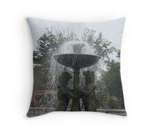 Detroit Zoo Fountain Throw Pillow