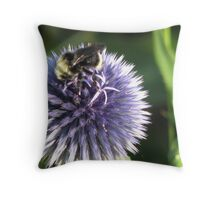 Lavender Buzz Throw Pillow