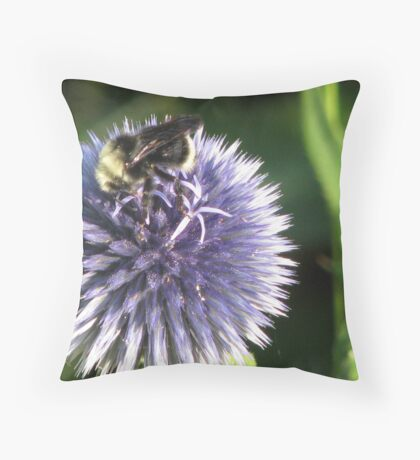 Lavender Buzz Throw Pillow