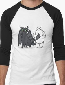 Toothless & Baymax Men's Baseball ¾ T-Shirt