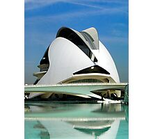 Palace of Arts, Opera of Valencia, Spain Photographic Print