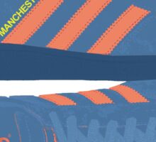 A Casual Classic iconic Adidas Manchester inspired t-shirt design Sticker