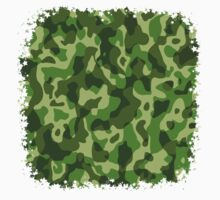 Green Camouflage Army Military Pattern Kids Clothes