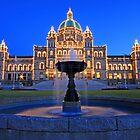 Fountain at the Legislature by Anne McKinnell