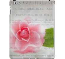 Hours of Idleness: A Flower in Pink iPad Case/Skin