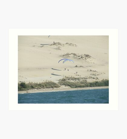Hang Gliding over the Sands Art Print