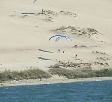 Hang Gliding over the Sands by Colin Morley