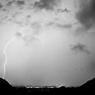 Lightning Rainbow Black and White by Bo Insogna