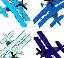 Blue Planes Sticker