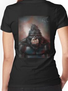 Primate Women's Fitted V-Neck T-Shirt