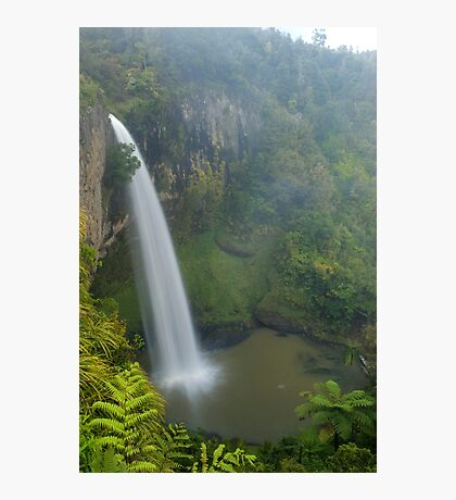 Bridal Veil falls, Waikato, New Zealand Photographic Print