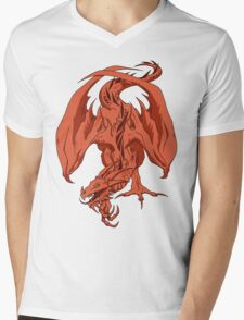 Red Dragon Mens V-Neck T-Shirt